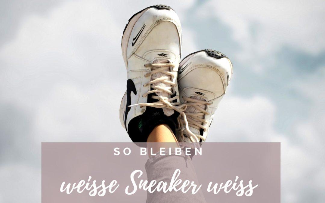 So bleiben weiße Sneaker weiß