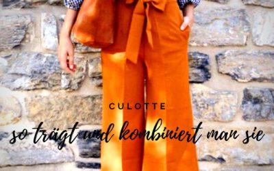 Culotte – so trägt und kombiniert man sie